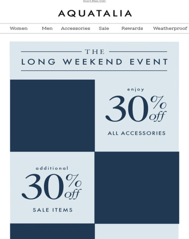 FINAL HOURS | Additional 30% off sale