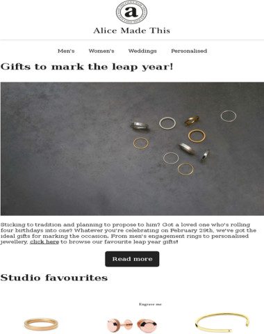 Gifts to mark the leap year!