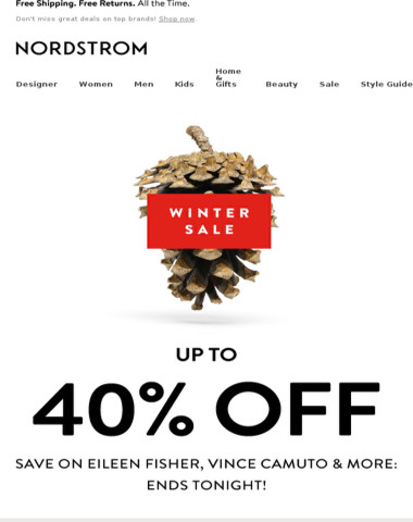 Just a few hours left to save up to 40% at our Winter Sale