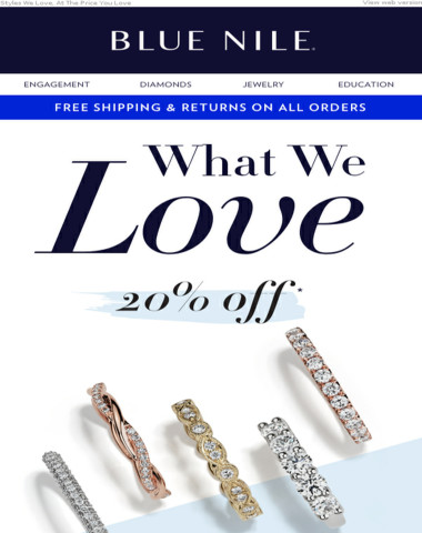 20% OFF Rings Starts Now!