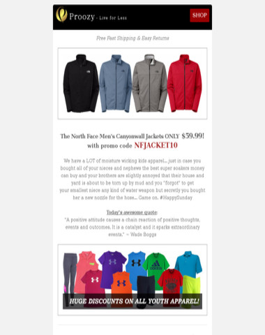 f7a90f6b674 Proozy - The North Face Jackets  59.99