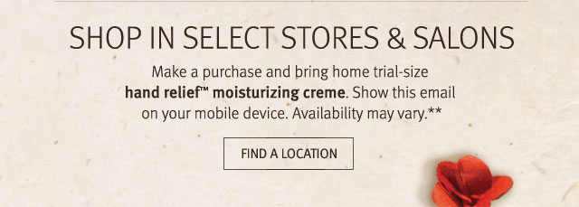 ship in select stores and salons. find a location.