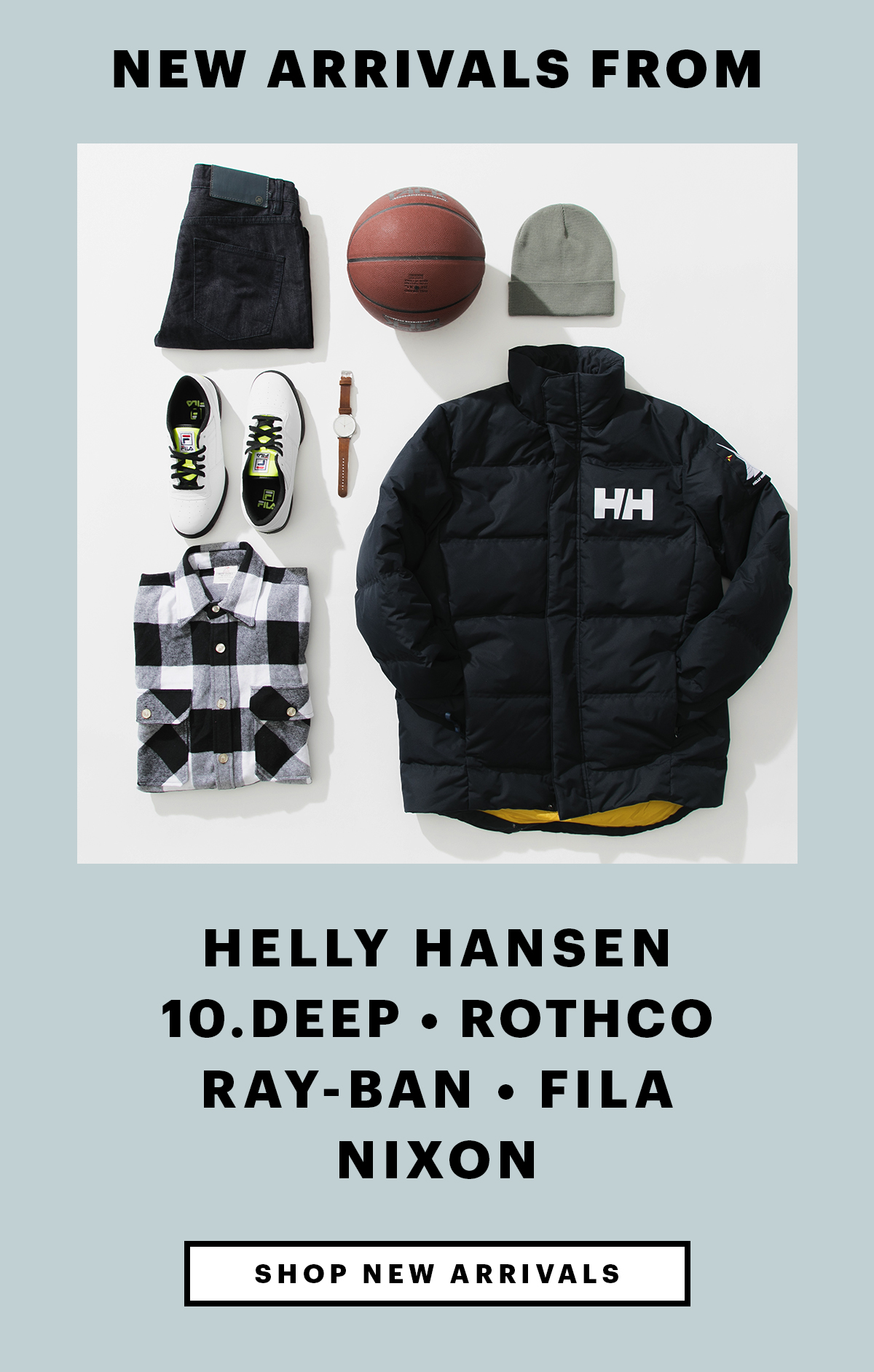 New Arrivals Feat: Helly Hansen, 10 Deep, Rothco, Ray Ban and Fila