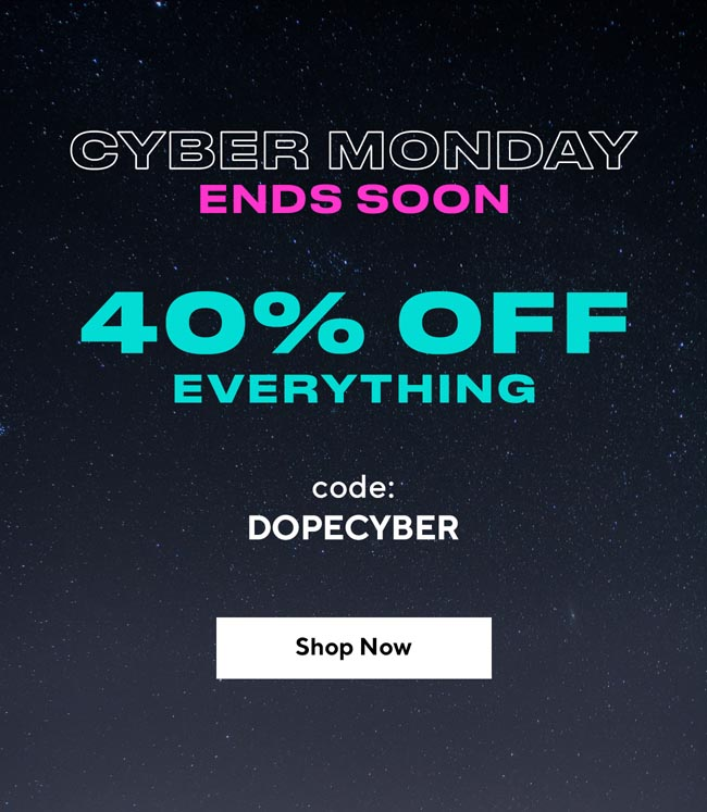 Cyber Monday Ends Soon