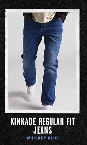 Mens Kinkade Regular Fit Jeans - Whiskey Blue