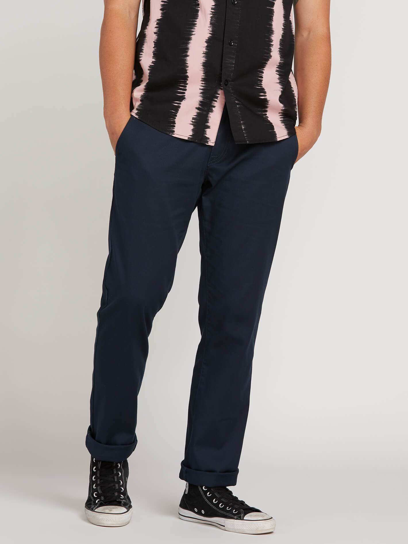 Frickin Modern Stretch Chino Pants - Dark Navy - DARK NAVY / 30 / 32