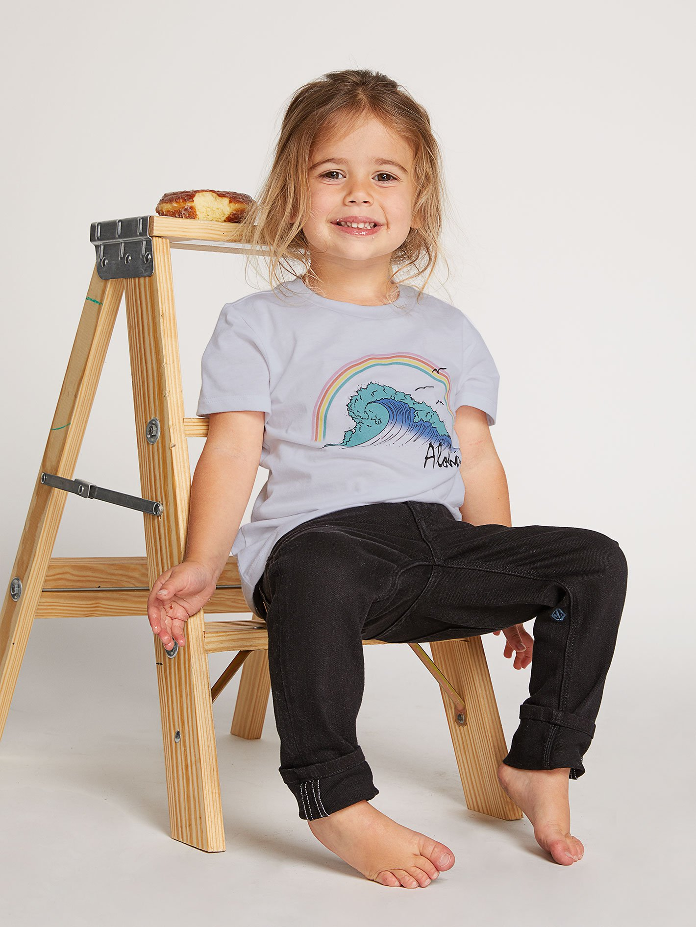 Little Girls Wav-Ello Tee - VIOLET ICE / 4T