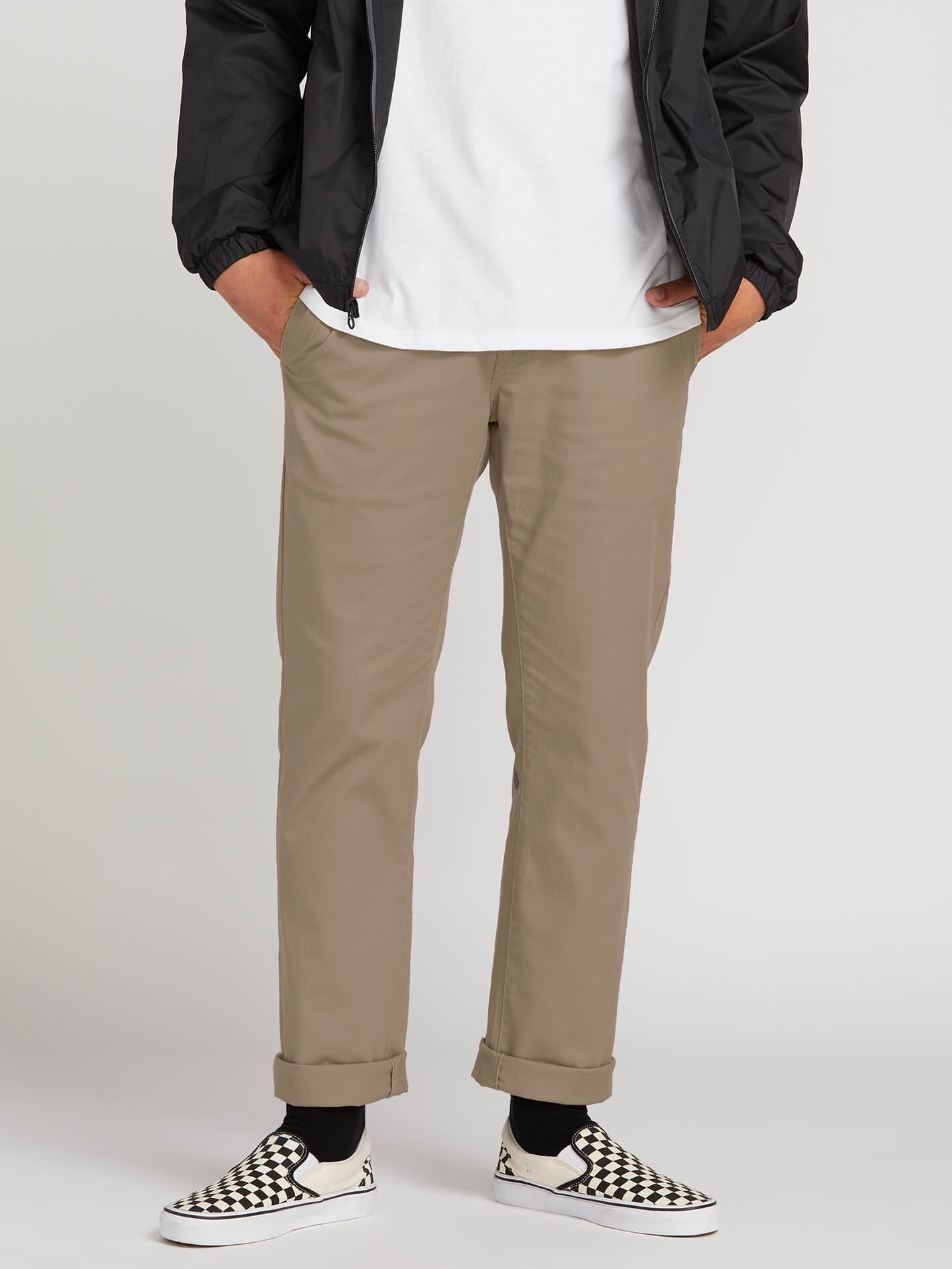 Frickin Modern Stretch Chino Pants - Khaki - KHAKI / 46 / 32