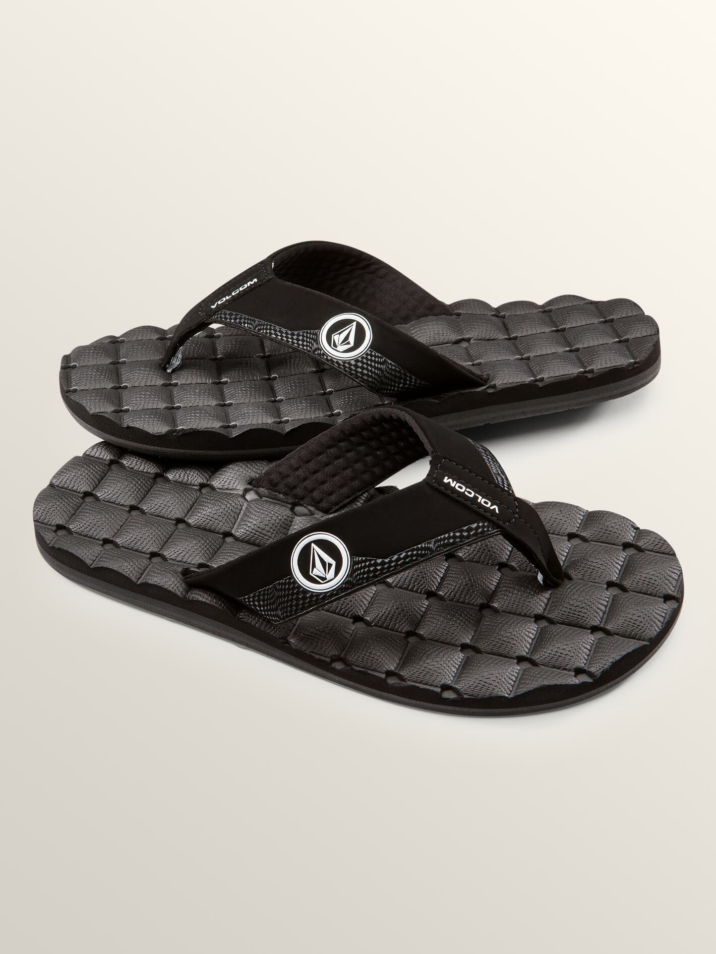 Recliner Sandals - Black White - BLACK WHITE / 13