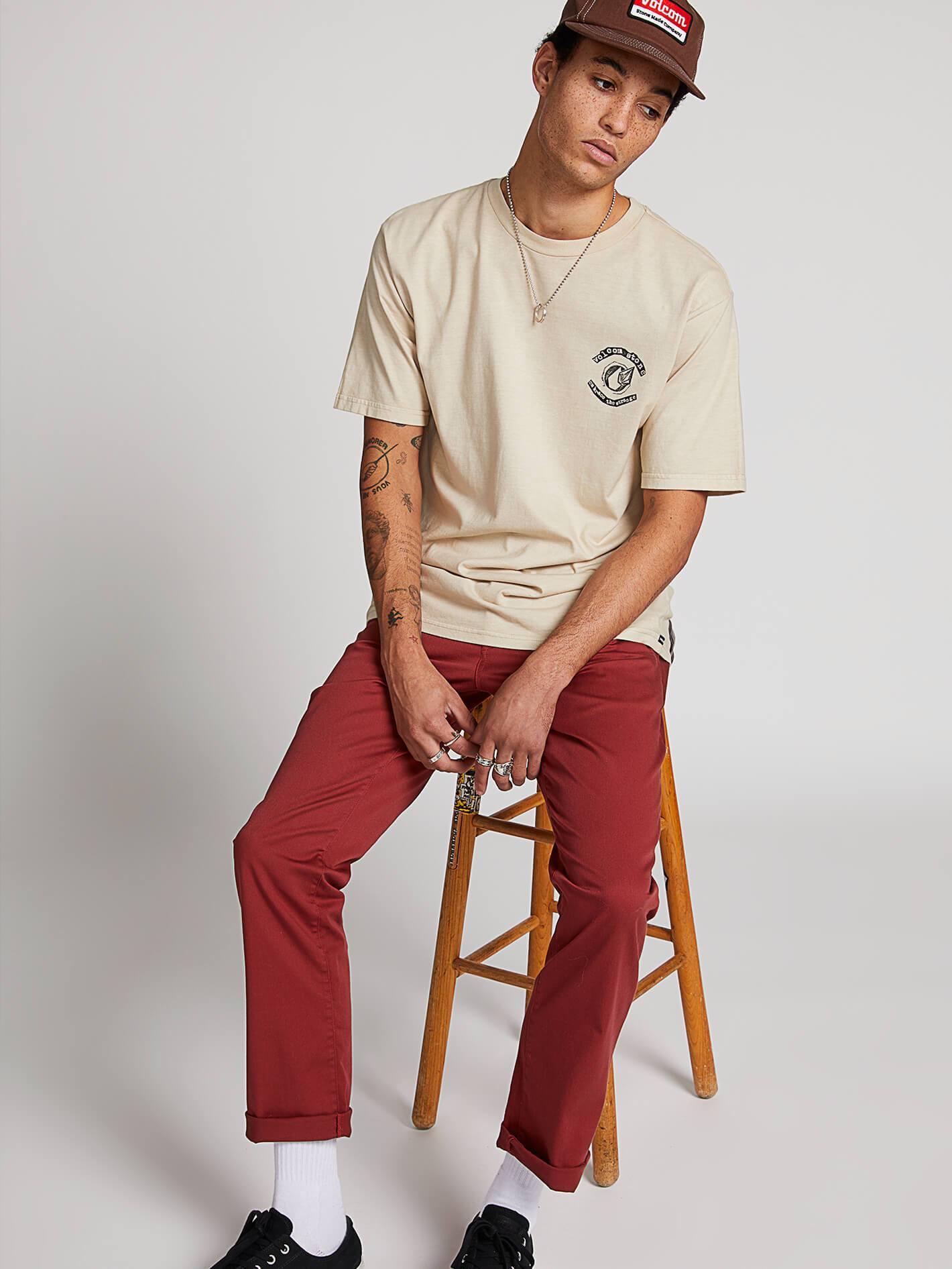 Frickin Modern Stretch Chino Pants - Cowhide - COWHIDE / 28 / 34