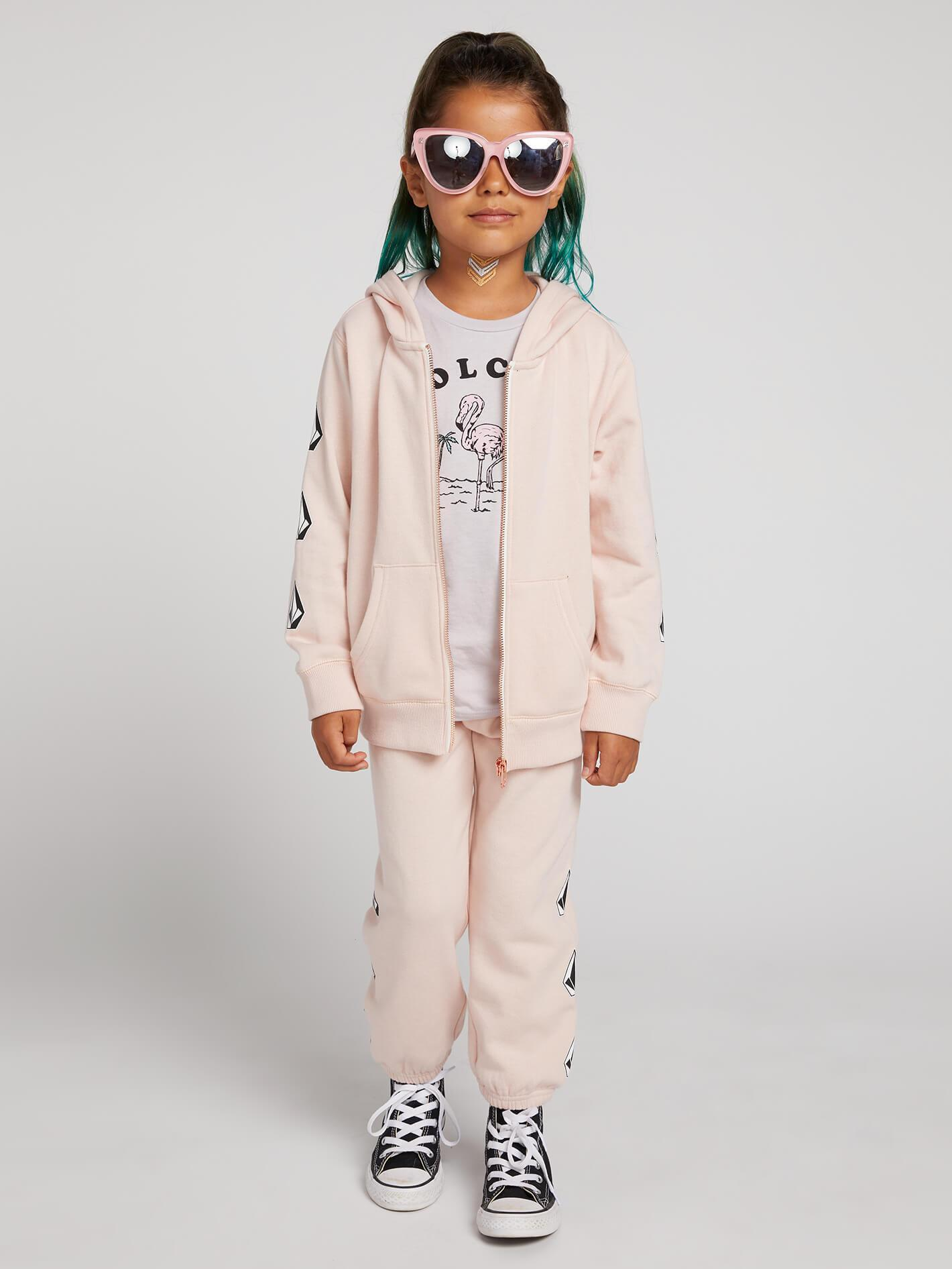 Little Girls Vol Stone Fleece Pants - MELLOW ROSE / 3T