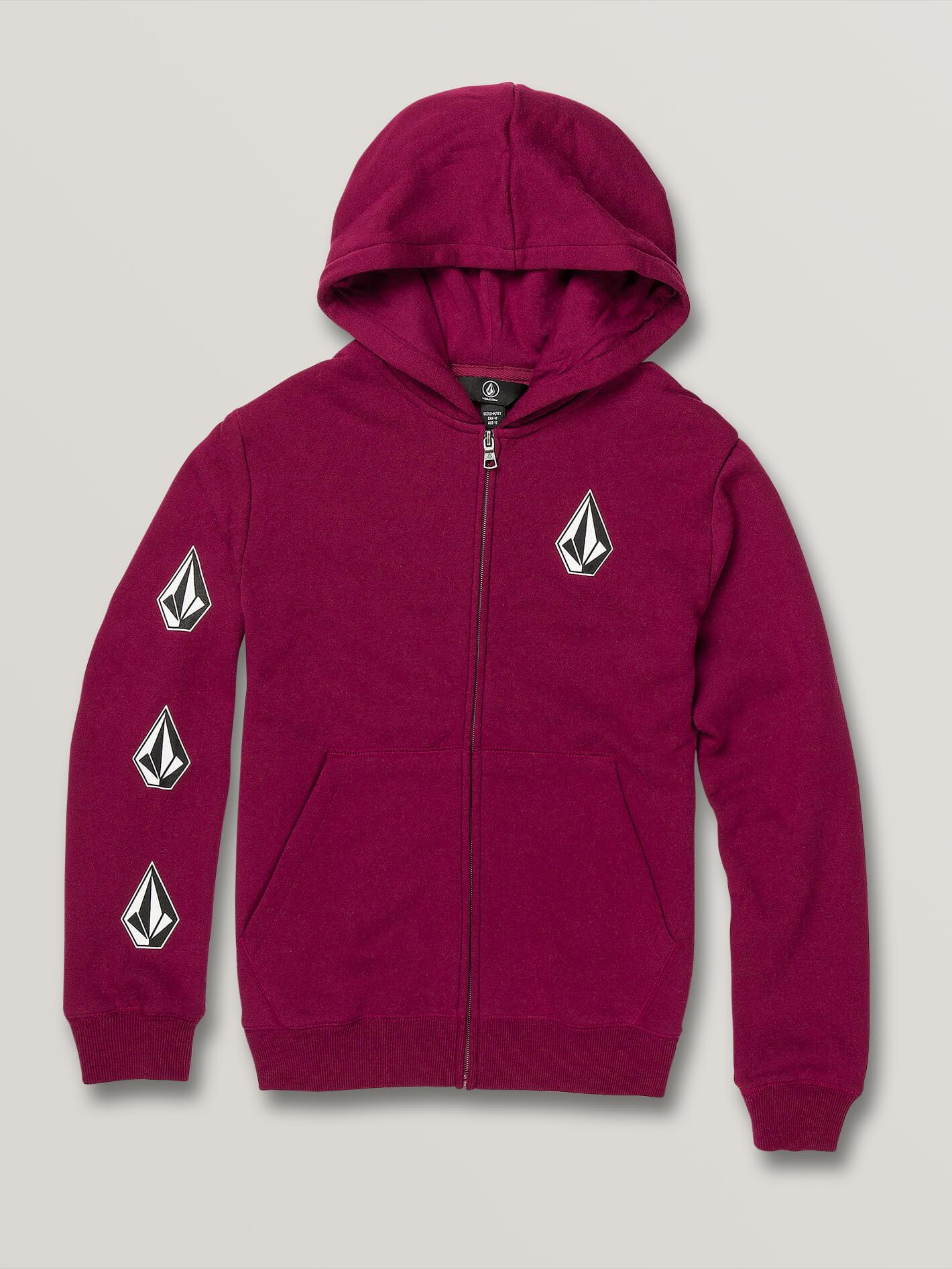 Big Boys Deadly Stones Zip Hoodie - Plum - PLUM / L