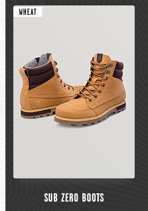 Mens Sub Zero Boots - Wheat