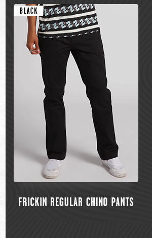 Mens Frickin Regular Chino Pants - Black