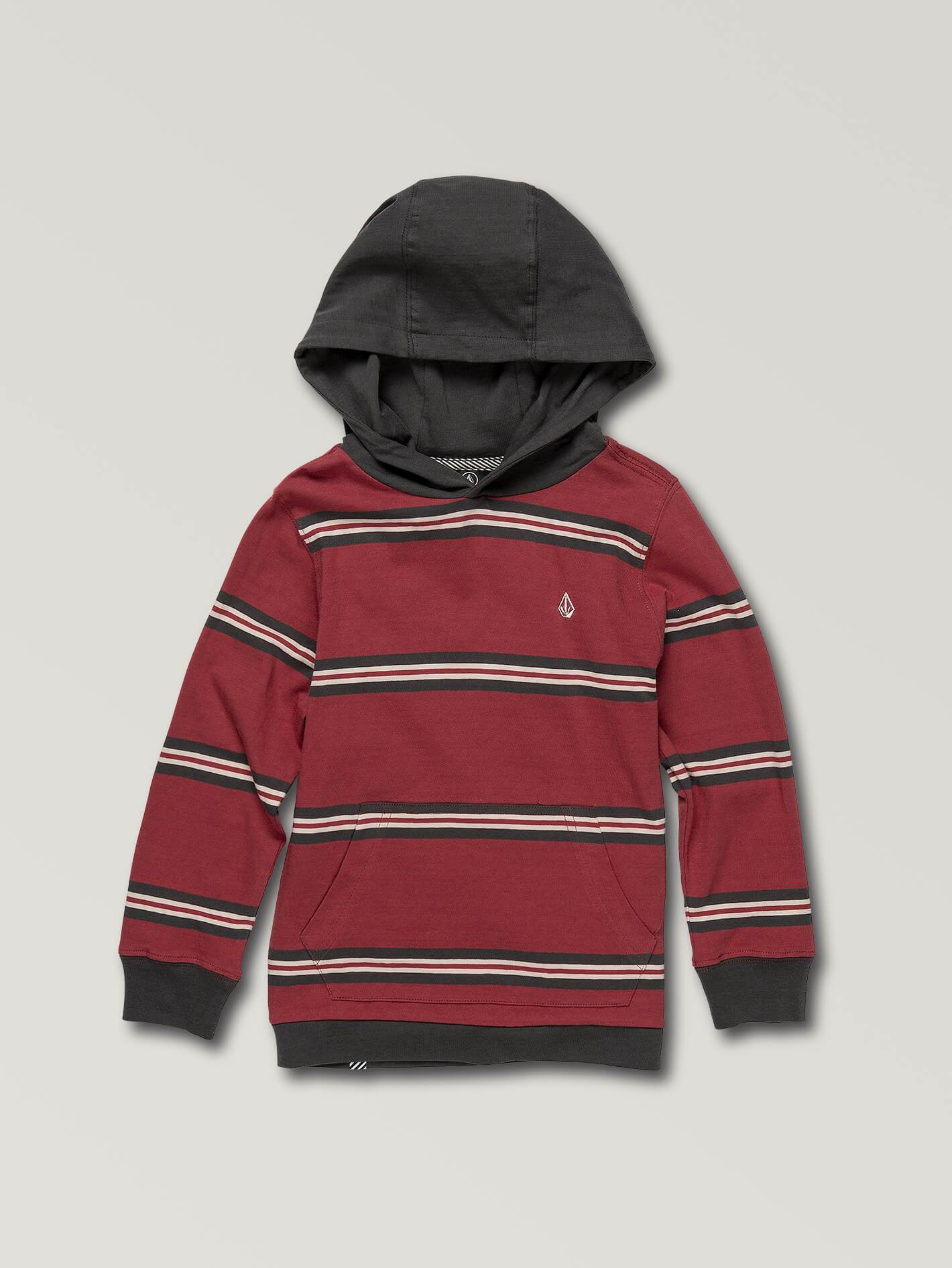 Little Boys Beauville Long Sleeve Hoodie - BURGUNDY / 3T