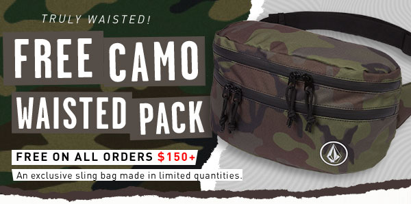 FREE Camo Waisted Pack on all orders $150+