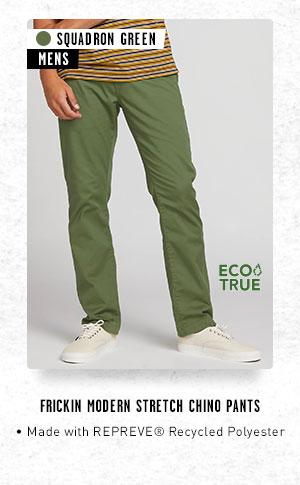 Mens Frickin Modern Stretch Chino Pants - Squadron Green