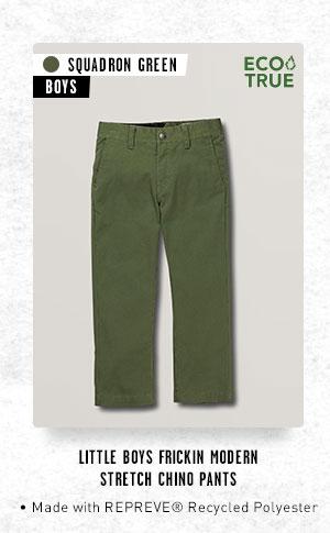 Little Boys Frickin Modern Stretch Chino Pants - Squadron Green