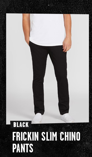 Mens Frickin Slim Chino Pants - Black