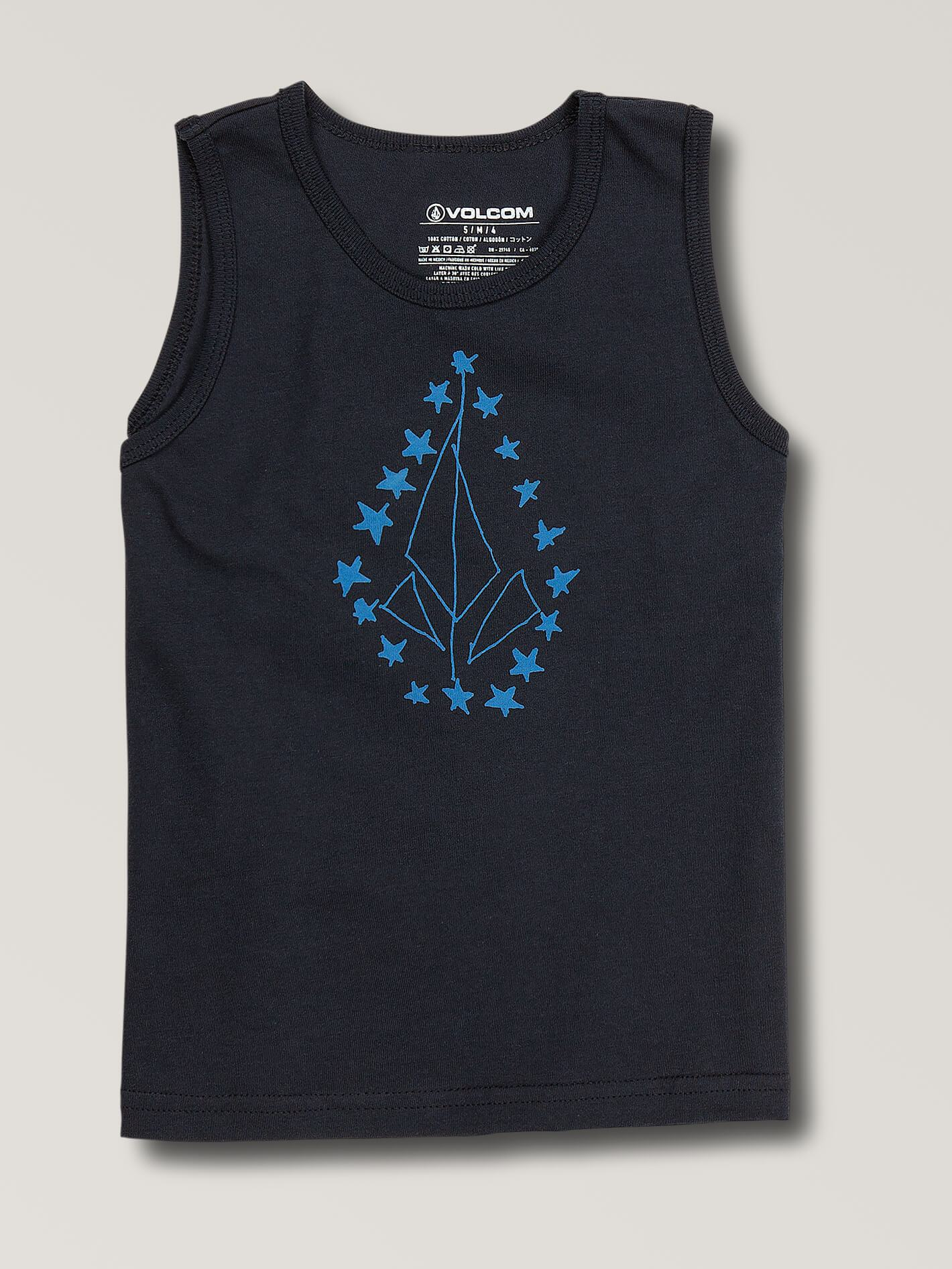 Little Boys Shaky Star Tank-NAVY / 2T