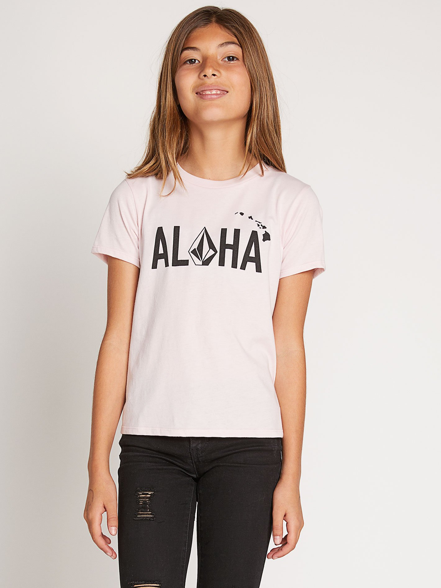 Big Girls Wav-Ello Tee-BLUSH PINK / M
