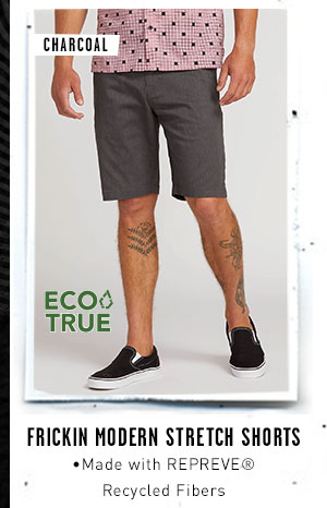 Mens Frickin Modern Stretch Shorts - Charcoal