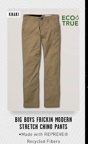 Big Boys Frickin Modern Stretch Chino Pants - Khaki