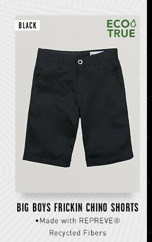 Big Boys Frickin Chino Shorts - Black