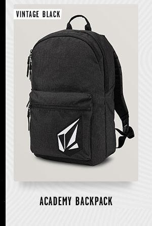 Mens Academy Backpack - Vintage Black