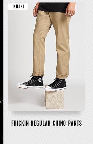 Mens Frickin Regular Chino Pants - Khaki