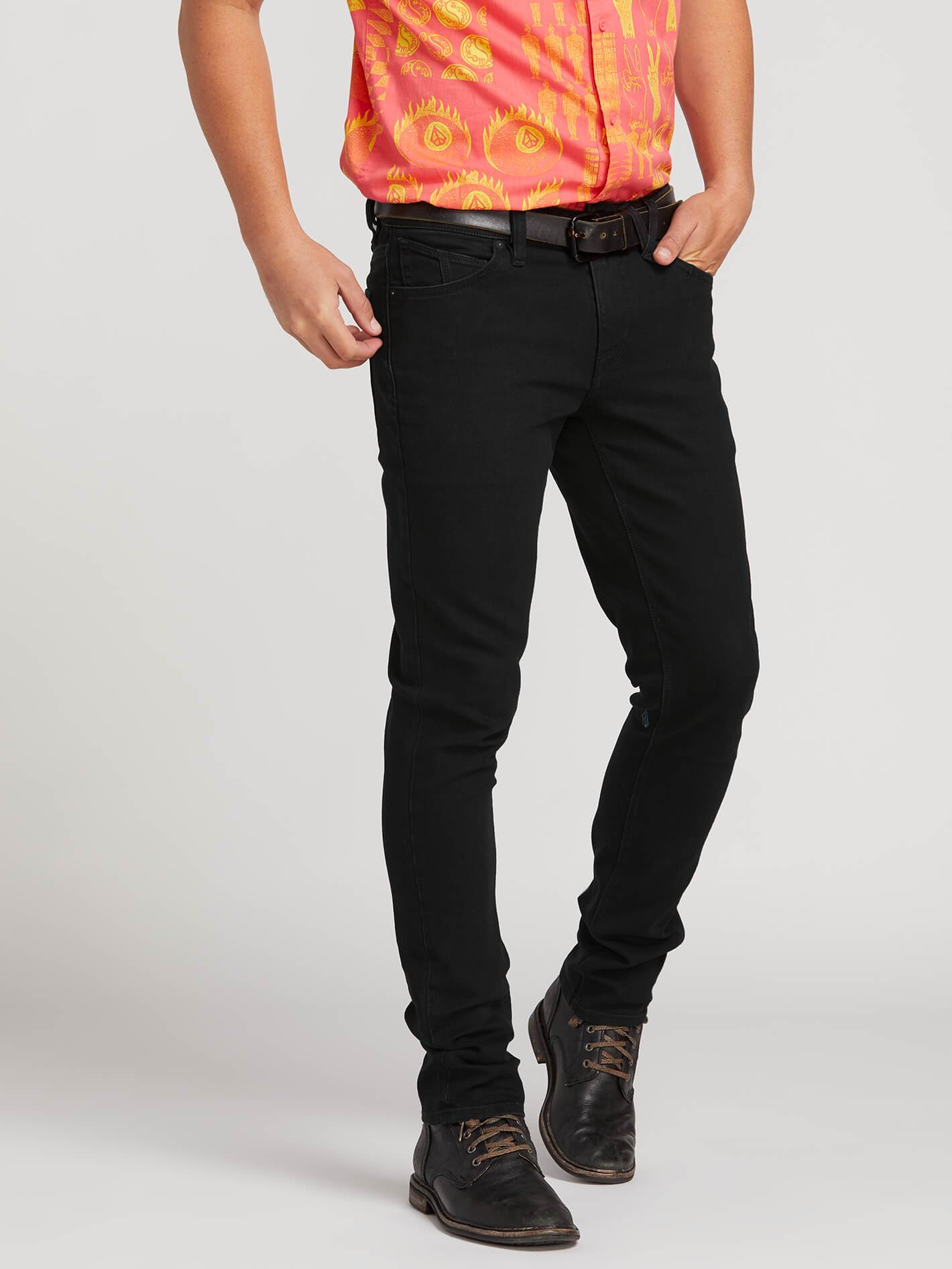 2X4 Skinny Fit Jeans - Black Out - BLACKOUT / 33 / 32