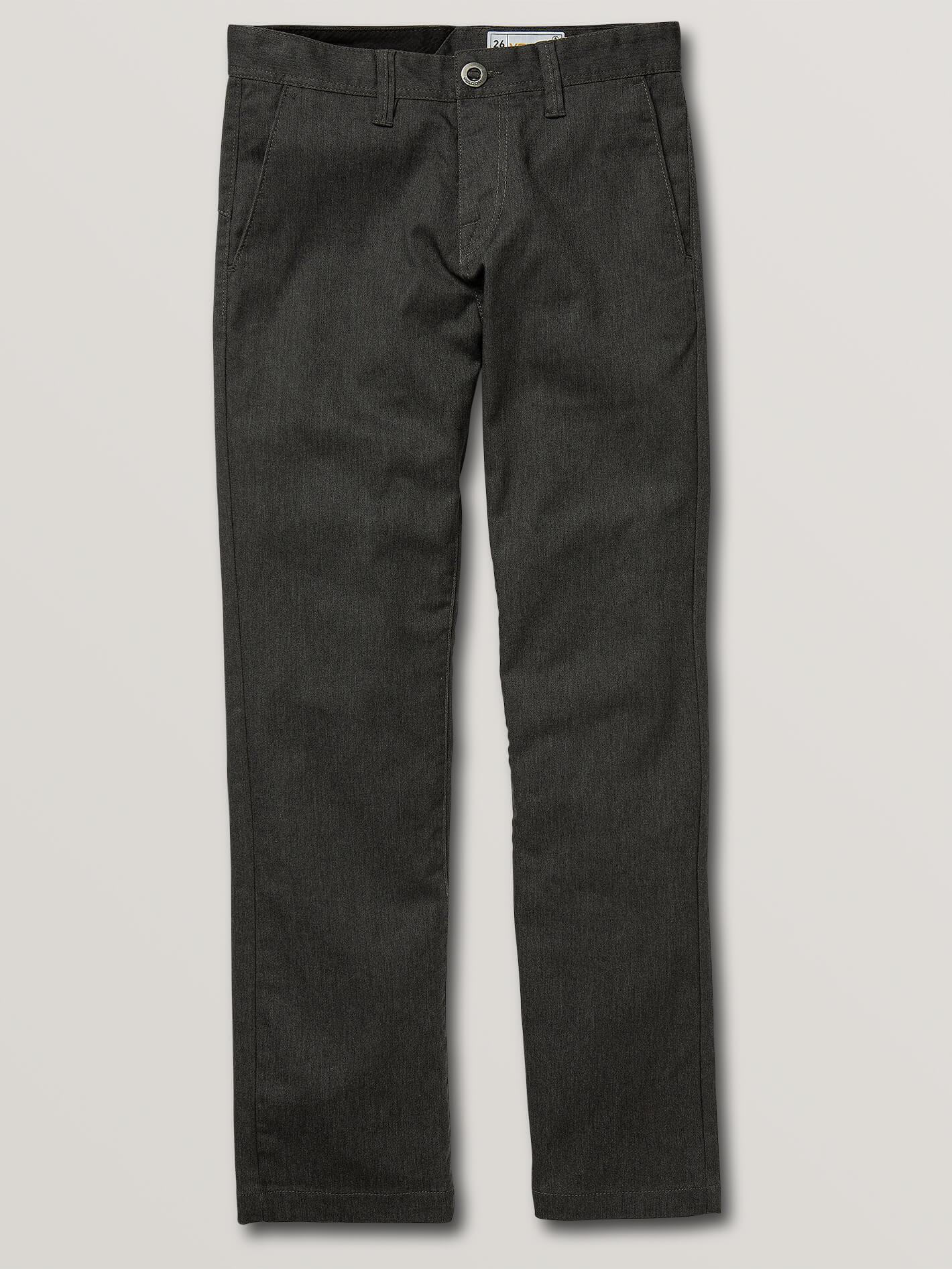 Big Boys Frickin Modern Stretch Chino Pants - Charcoal Heather - CHARCOAL HEATHER / 27