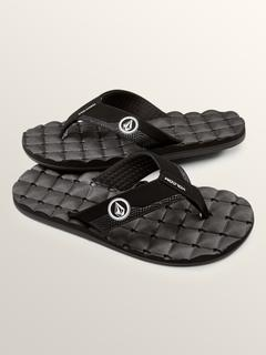 Recliner Sandals - Black White - BLACK WHITE / 14