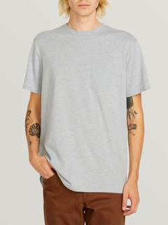 Heather Short Sleeve Pocket Tee - BLACK COMBO / XXL