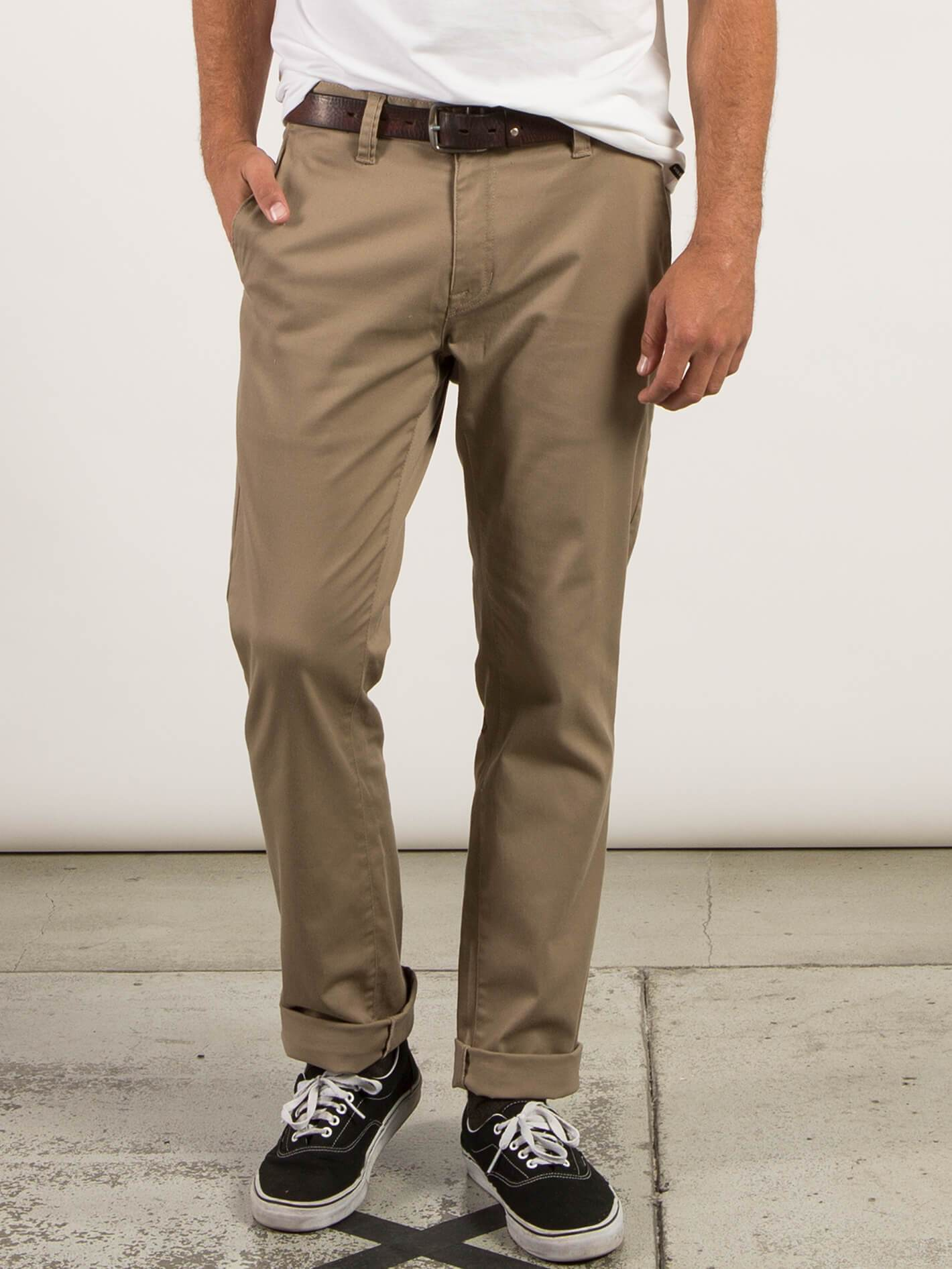 Frickin Modern Stretch Chino Pants - Khaki - KHAKI / 36