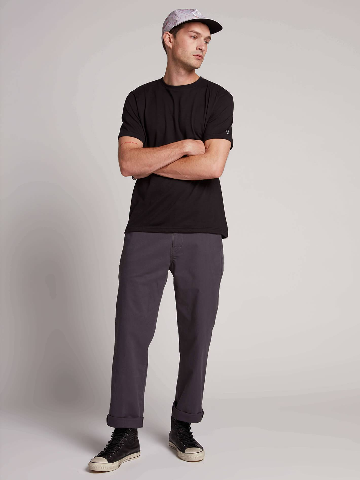 Frickin Regular Chino Pants W/ Cell Phone Pocket - CHARCOAL / 36