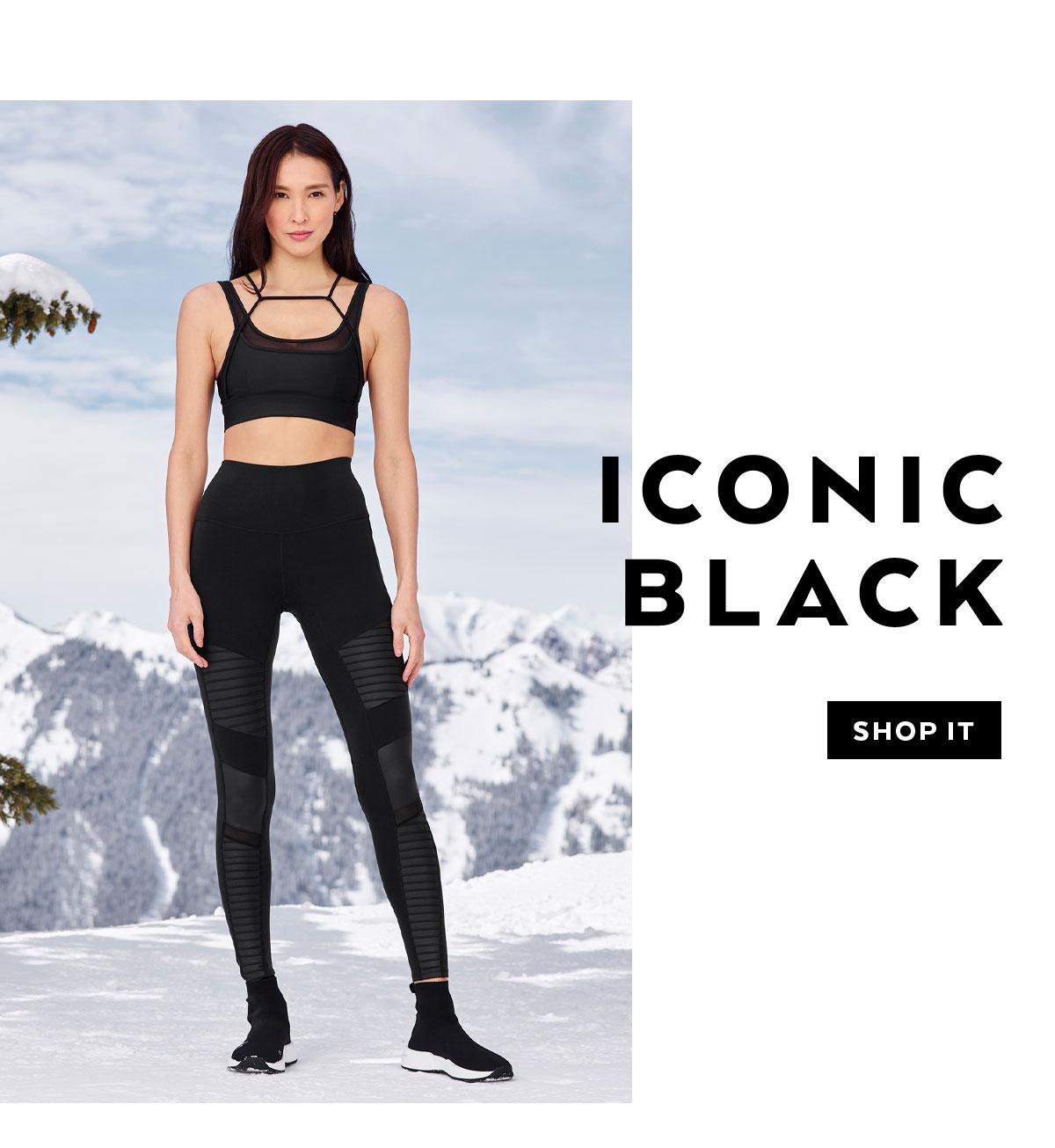 ICONIC BLACK. SHOP IT