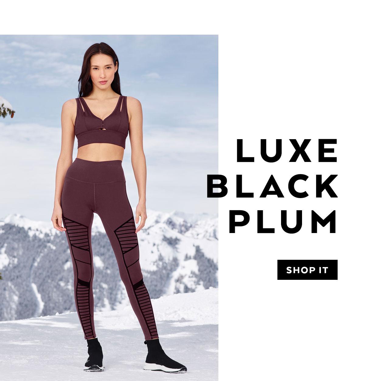 LUXE BLACK PLUM. SHOP IT