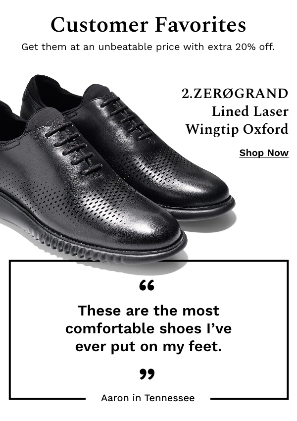 Customer Favorites | Shop 2.Zerogrand Lined Laser Wingtip Oxford