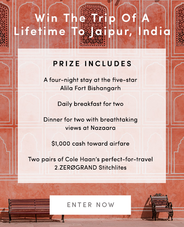 Cole Haan - Getaway Giveaway: Win A 5 Star Trip for Two