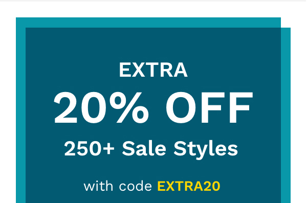 Extra 20% Off | 250+ Sale Styles | With Code EXTRA20 | Shop Sale