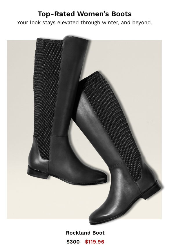 Top Rated Women's Boots | Shop Rockland Boot in Black Leather
