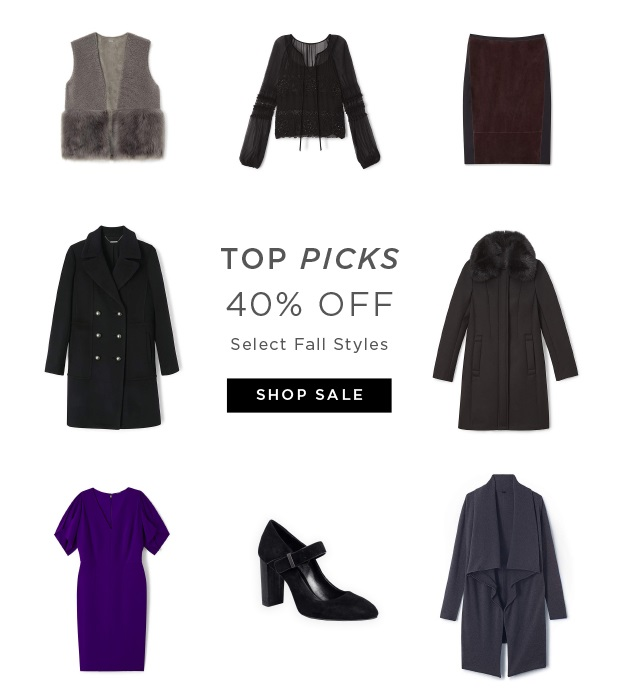Top Picks - 40% OFF Select Fall Styles