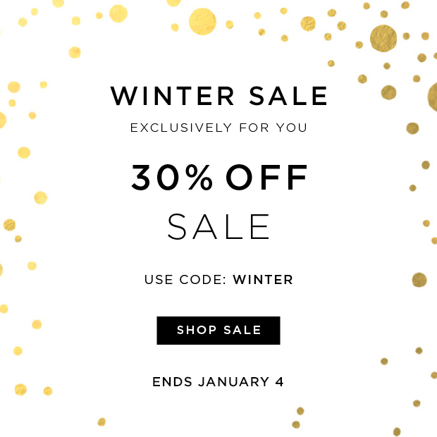 Winter Sale - 30% OFF Sale - Use Code: WINTER - Ends 1/4
