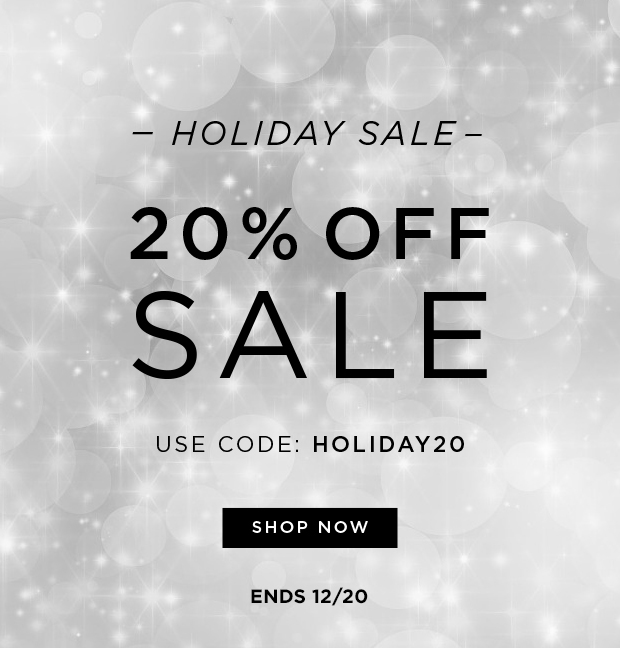 Holiday Sale - 20% OFF Sale - Use Code: HOLIDAY20 - Ends 12/20