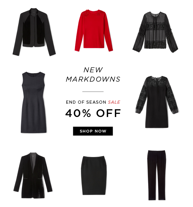 New Markdowns - End Of Season Sale 40% OFF