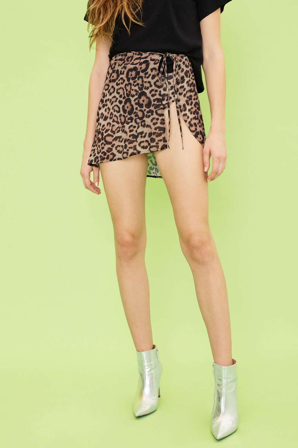 Image of Exotica Wrap Skirt - Leopard