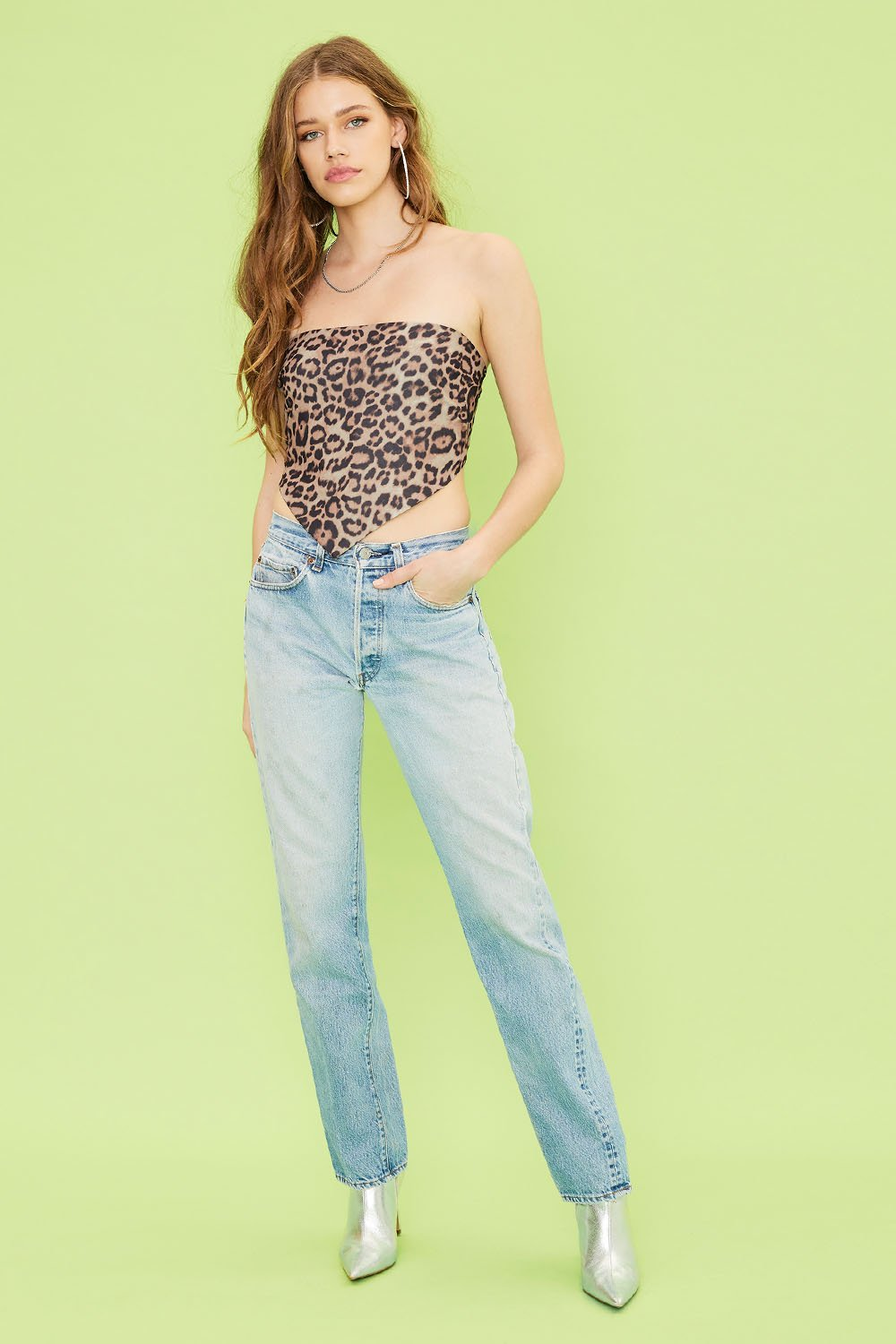 Image of Untamed Scarf Top - Leopard