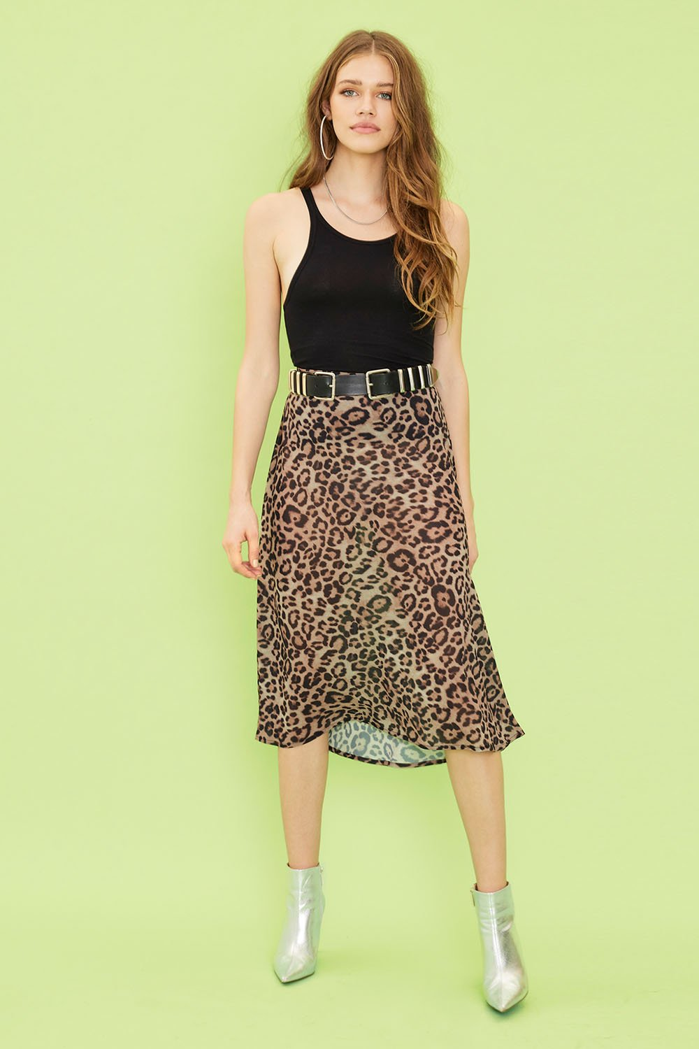 Image of Margay Midi Skirt - Leopard