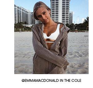 frankies bikinis swimwear cole top white